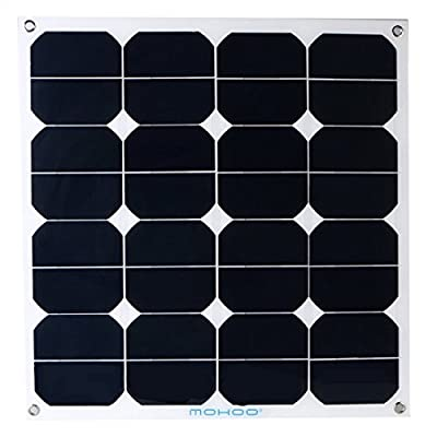 Best Cheap Deal for Solar Panel,MOHOO 50 Watt 50W Bendable Photovoltaic PV Thin Lightweight Solar Panel Module with MC4 for RV, Boat, Cabin, Off-Grid by MOHOO - Free 2 Day Shipping Available