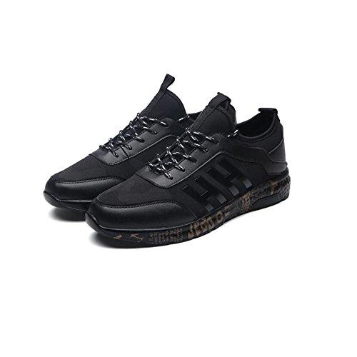 YIXINY Deporte Zapato Zapatos De Malla Primavera Y Verano Transpirable Juventud Estudiante Deportes Zapatos Casuales Aire Libre y Deporte ( Color : Blanco , Tamaño : EU40/UK7/CN41 ) Negro
