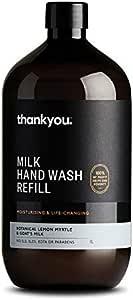 Thankyou Hand Wash Refill Botanical Lemon Myrtle & Goat's Milk, 1L (more options available)