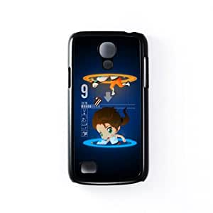 Portal Girl Black Hard Plastic Case Snap-On Protective Back Cover for Samsung® Galaxy S4 Mini by DevilleArt + FREE Crystal Clear Screen Protector