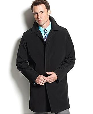 Calvin Klein Mens Park Raincoat 3/4 Length Black
