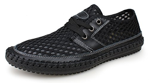 Kunsto Men's Mesh Casual Water Shoes Lace Up US Size 9.5 (Mens Journey Water)