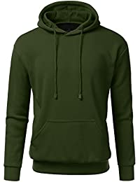Men's Casual Junior Slim Fit Pullover Fleece Hoodie Sweatshirt