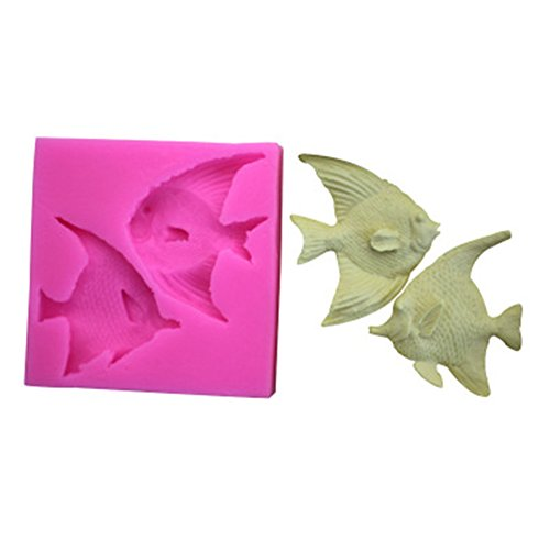 Outflower Ocean Tropical Fish Chocolate Fondant Cake Mold Handmade Soap Silicone Moulds