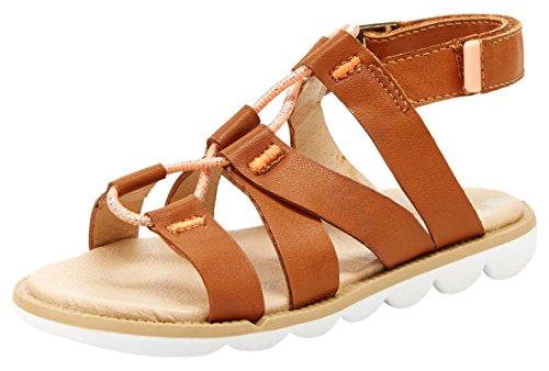 Step & Stride Ashton Girl's Adjustable Sandal, Brown, 11.5 M US Little Kid Ashton Leather
