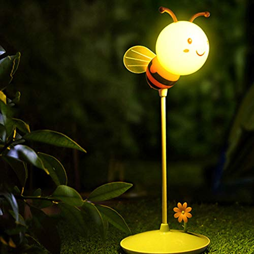 Gbell Kids Bedside Lamp,Cute Bumble Bee Nights Lights Yellow/Pink for Girls Boys Kids Toddlers Baby Bedroom Decorations,USB Charge Nightlights 3Pcs