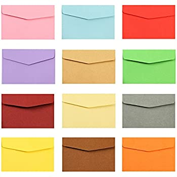 AxeSickle Mini colored envelopes 4.7 in x 3.2 in( 50 per pack) - Small Colored Envelopes for Gift Card Wedding,Birthday Party Supplies.