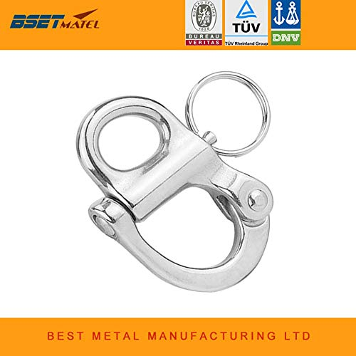 (Ochoos Stainless Steel 316 Rigging Sailing Fixed Bail Snap Shackle Fixed Eye snap Hook Sailboat Sailing Boat Yacht Outdoor Living)