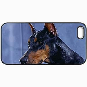 Fashion Unique Design Protective Cellphone Back Cover Case For iPhone 5 5S Case Doberman Dogs Black