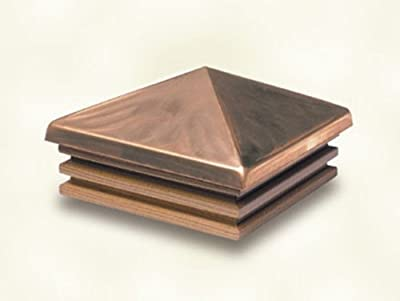 Woodway Products Cedar Copper Mission Pyramid Post Cap