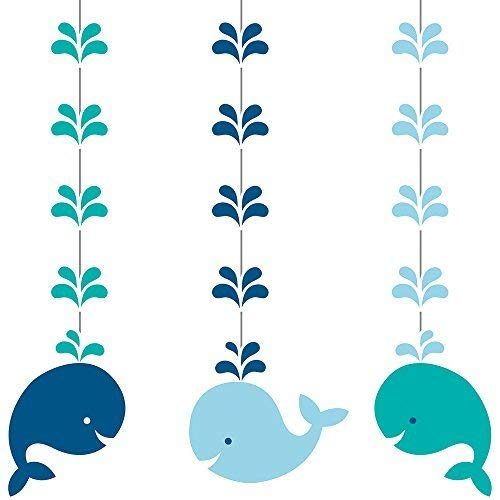 Whale Party Supplies (Creative Converting 324424 Hanging Cutouts, One size,)