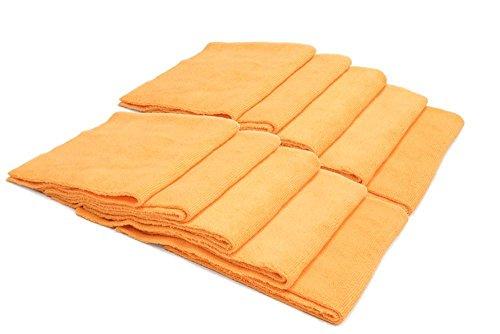 [해외]벌크 번들 【 씨 모두 】에 일 리스 마이크로 화이버 다용도 타월 (16 × 16 in 350 gsm) 10 팩 (오렌지) / BULK BUNDLE [Mr. Everything] Edgeless Microfiber Utility Towel (16 in. x 16 in 350 gsm) 10 pack (Orange)