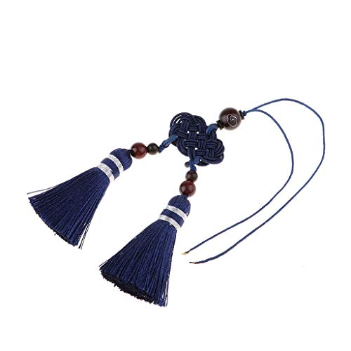 - Handmade Lucky Chinese Knot Traditional Tassel Key Chains Bags Accessories | Color - Blue