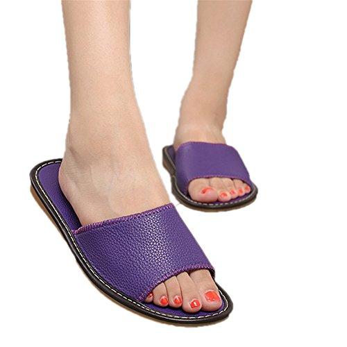 Women pour TELLW Femme Purple Chaussons tapwqpxR