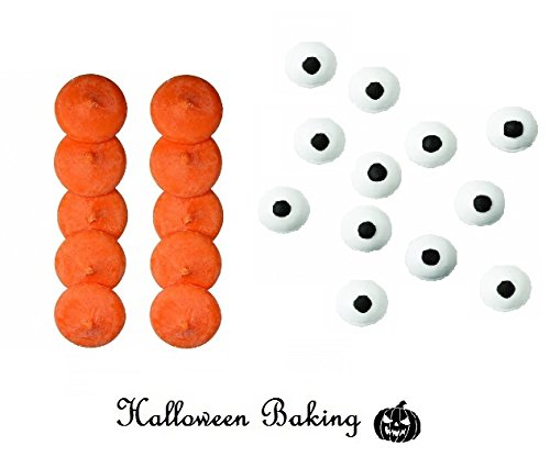 PME ORANGE Candy Button Melts & Wilton Eyes Cake Topper For Halloween -