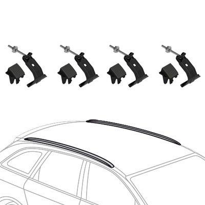 F46 portapacchi Nordrive Snap Steel in acciaio nero Barre portatutto per BMW Serie 2 Gran Tourer dal 05//2015 dotate di serratura antifurto