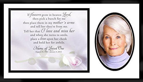 Personalized Beloved Memorial Photo Wall Frame with Spiritual Poem