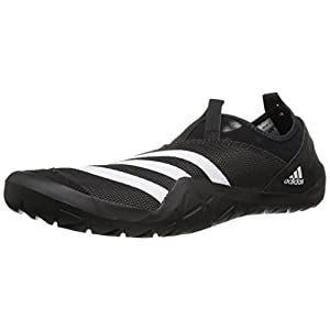 adidas Outdoor Men's Climacool Jawpaw Slip-on Water Shoe, Black/White/Utility Black, 11 M US