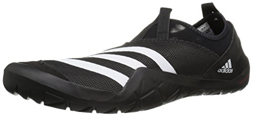 adidas outdoor Men's Climacool Jawpaw Slip-On Water Shoe, Black/White/Utility Black, 6 M US