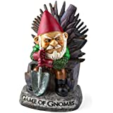"""Big Mouth Inc. Game of Gnomes Garden Gnome – Comical Garden Gnome, Hand-Painted Weatherproof Ceramic Lawn Gnome, Makes a Great Gift, 9.5"""" Tall"""