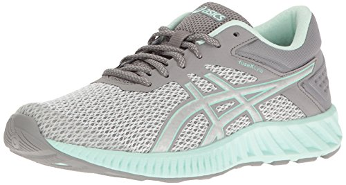 ASICS Women's fuzeX Lyte 2 Running Shoe, Mid Grey/Silver/Bay, 5.5 M US