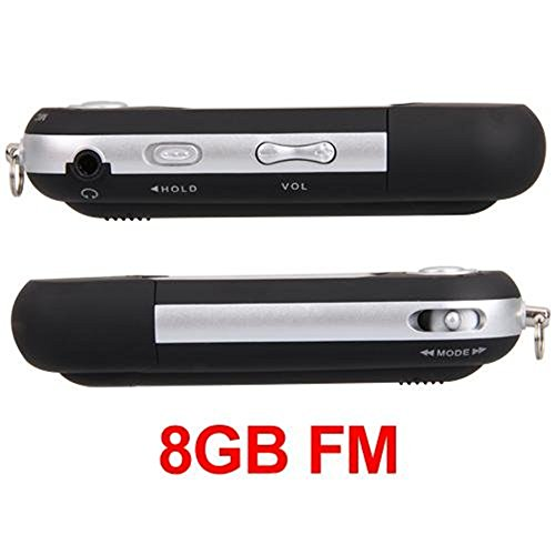 (Ecloud ShopUS Black 8GB 8G USB Flash Drive LCD Mini MP3 Player w/ FM Radio)