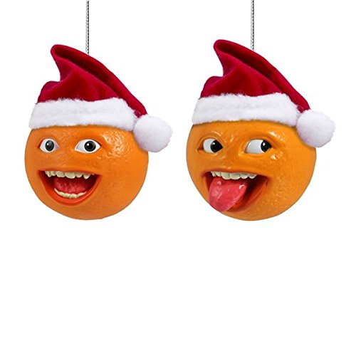 Kurt S. Adler Annoying Orange With Santa Hat Blow Mold Or...