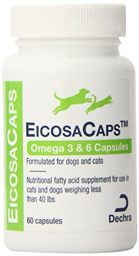 Sprinkle Capsules 60 (Dechra 60 Capsules EicosaCaps Fish Oil Nutritional Supplements for Dogs and Cats Up to 40-Pound)