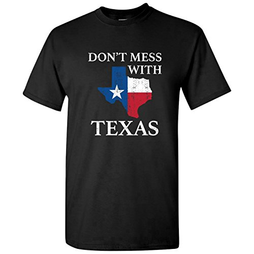 UGP Campus Apparel Don't Mess with Texas - Funny Texan Lone Star State American T Shirt - 3X-Large - Black