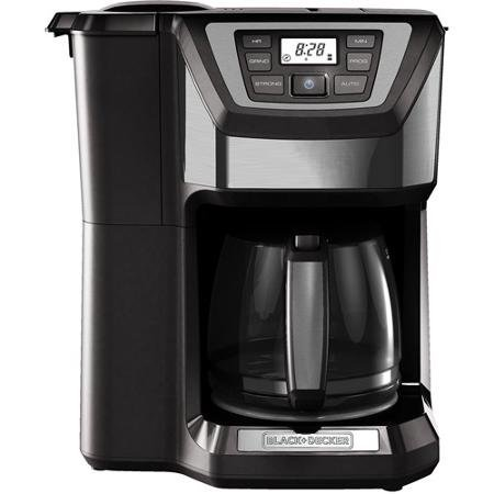 12-Cup, Mill and Brew, Programmable Coffee Maker With Grinder, Gray by BLACK+DECKER Black & Decker