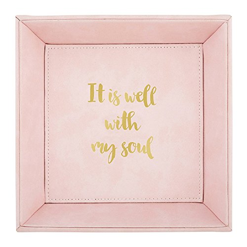 AT001 It Is Well With My Soul Tabletop Tray, 7.5''. by AT001