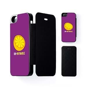 Un-Rhymable Carcasa Protectora Snap-On Negra en Formato Duro para Apple® iPhone 5 / 5s de Chargrilled + Se incluye un protector de pantalla transparente GRATIS