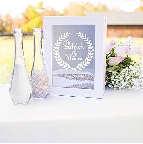 Personalized Sand Ceremony Display Box Wedding Shadowbox Decoration Wood /& Glass