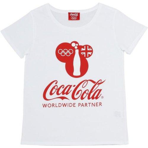 囲まれた不幸情熱的コカ?コーラ×ロンドンオリンピック レディースTシャツ オリンピックロゴ ホワイト