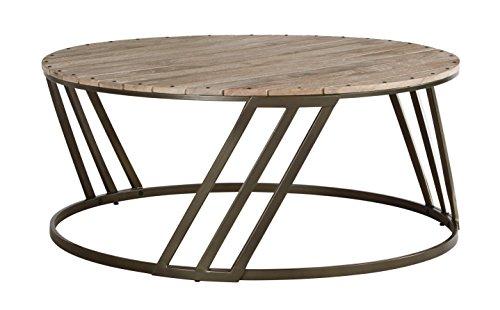 Ashley Furniture Signature Design - Fathenzen Casual Round Cocktail Table - - Tone Cocktail