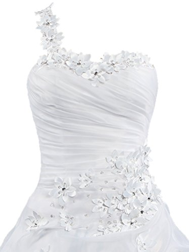 Gown Dresses Flowers s Ball White One Wedding For Bride Women ANTS Shoulder px8wqYCZ
