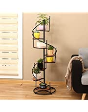Metal Tiered Indoor Plant Stand - 8 Tier 8 Potted Tiered Flower Stand Narrow Iron Tall Plant Shelf Multi-Tiered Plant Rack Multiple Layer Holder For Corner Balcony Living Room Patio Outdoo(Size:Large)