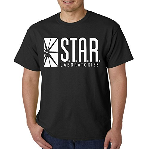 fresh tees Star Laboratories S.T.A.R. Labs Adult T- Shirt (X- Large, Black) ()