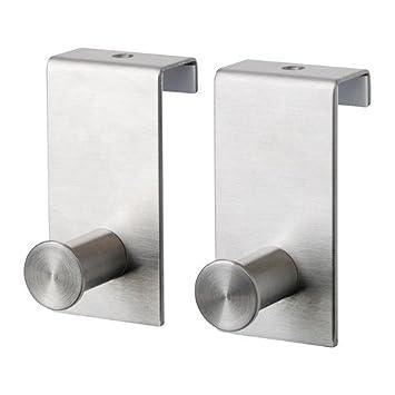 IKEA GRUNDTAL - Gancho para puerta, de acero inoxidable de ...