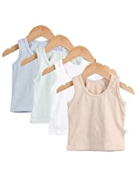 Guozyun Baby Boys Tank Tops with Sleeveless T-Shirts Undershirt Cami Shirts for 6-36 Months Infant Toddler Kids 4-Pack