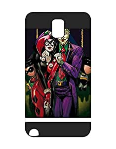 Mewmewtat - Galaxy Note 3 Funda Case Hard Cover Heavy Duty Personalized Pattern Design Joker And Harley Dc Comics ImpACt Resistant Drop Protection Cell Phone Cover Samsung Galaxy Note 3 With Boys