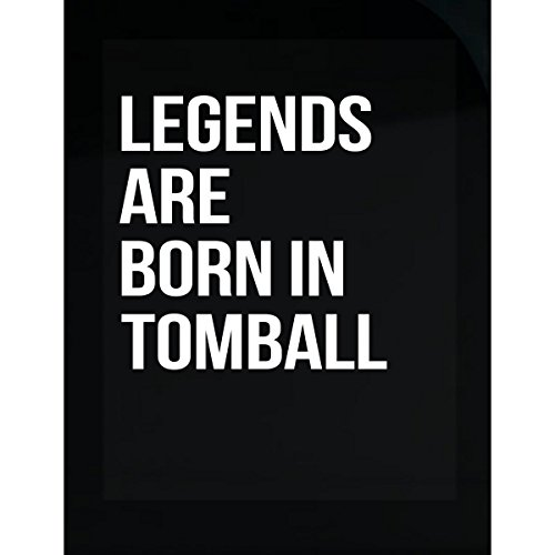 Inked Creatively Legends are Born in Tomball City. Funny Gift - Sticker -