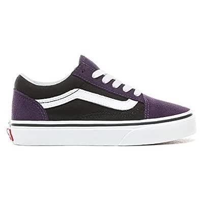 Vans UY Old Skool, Unisex Kids' Shoes, Black ((Suede) mysterioso/black VIT), 1 UK (32 EU)