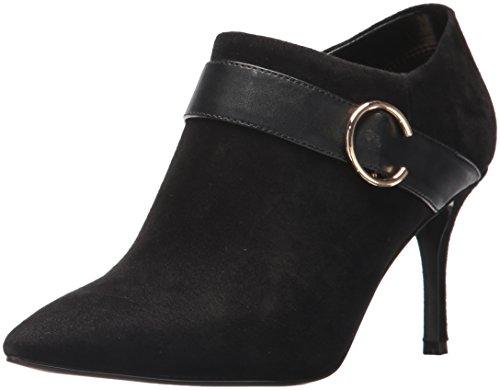 Nine West Women's MEGAERA Ankle Boot, Black Suede, 9 Medium US