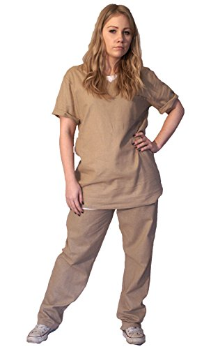 Beige Prison Costumes (The Cosplay Company Orange or Beige Ladies Prison Suit)