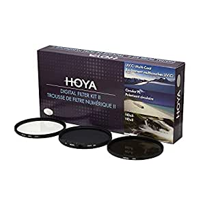 Hoya 52mm Digital Camera Lens Filter Kit II [HMC UV(C)+Circular Polarizer+ND8] with Pouch