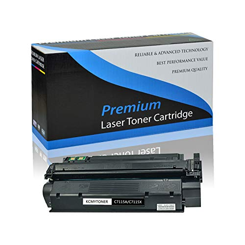 KCMYTONER Compatible High Yield C7115X Toner Cartridge Replacement for Hewlett Packard use with HP 15X Laserjet 1000 1005 1150 1200 1300 3300 3310 3320 3330 3380 1200n 1200se Series (Black, 1 Pack)