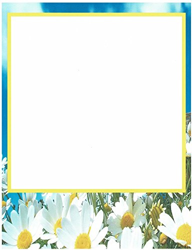 Daisy Floral Stationery Printer Paper 26 Sheets