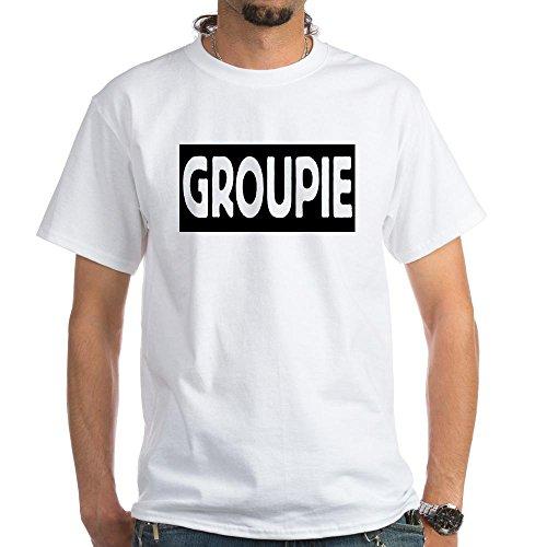 CafePress - Groupie White T-Shirt - 100% Cotton T-Shirt, White (80s Groupies)