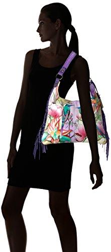 Passion Fringe Bag Anuschka Bouquet Spring Shoulder Handpainted Painted Vintage Hobo F7Tn1zwv